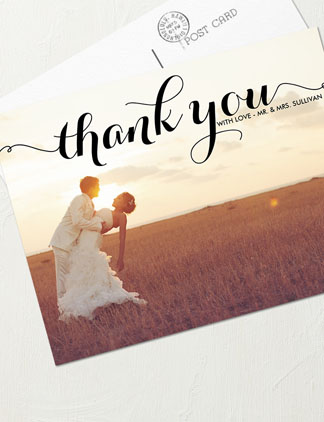 Thank You Wedding Postcards