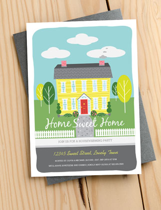 Browse the Housewarming Invitation Collection and personalise by colour, design or style.