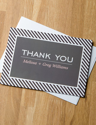 Browse the Thank You Cards Collection and personalize by color, design, or style.