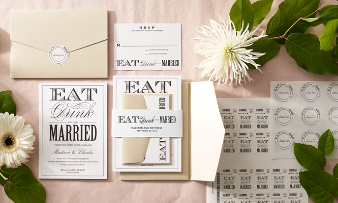 Browse the Wedding Invitations Collection and personalise by colour, design, or style.